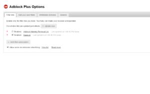 adblock plus preferences and customizations