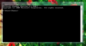 To run command prompt on system