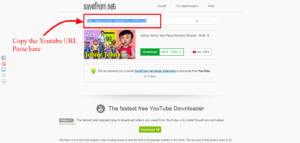 Paste You Tube URL on the link http://en.savefrom.net/1-how-to-download-youtube-video/