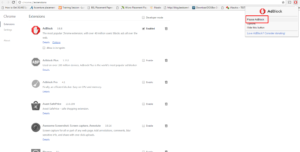 Pause AdBlock in google chrome