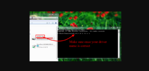 select your drive name then type code for command prompt