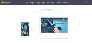 Blustacks App Player official download page