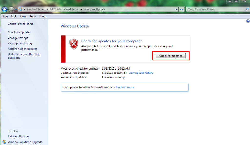 check your system if any pending windows update is there