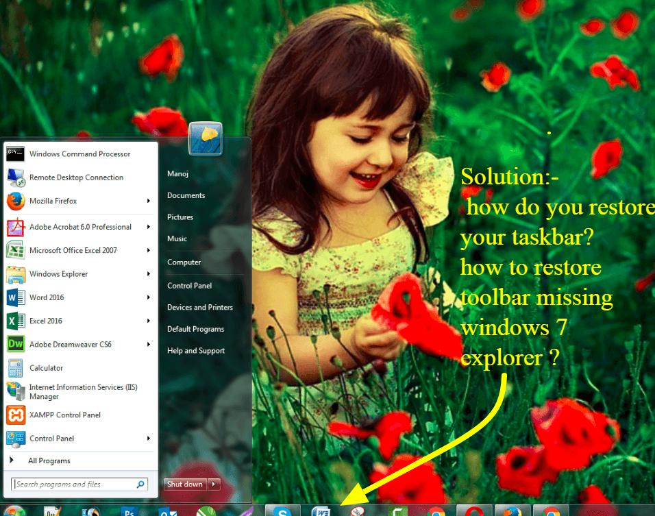 restore taskbar and fix missing taskbar icons