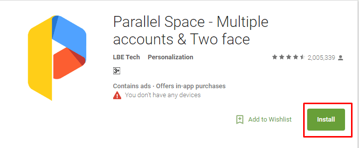 Download and Installed parallel space