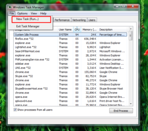 To open new task for your task manager