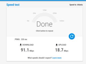 google internet speed online