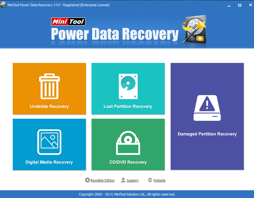 To recover Deleted files and folders