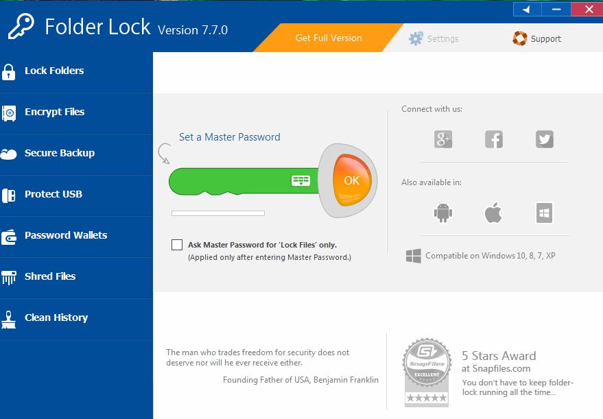 free folder lock for windows 7