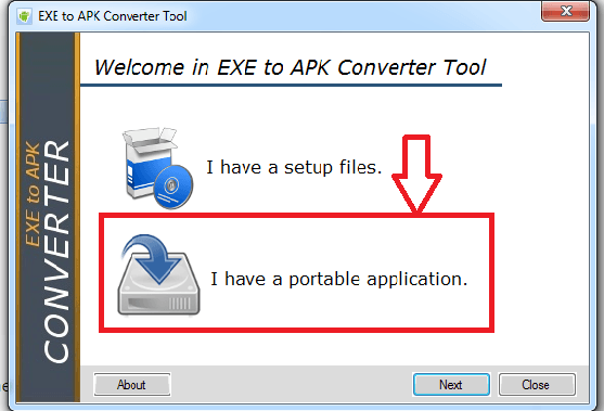 exe to apk converter tool wrong folder