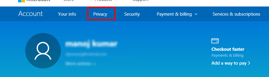 outlook privacy option