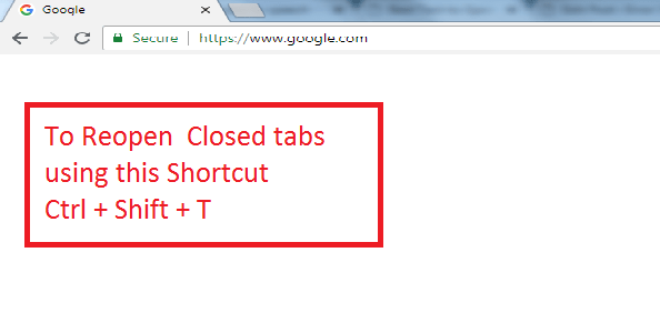 To reopen closed tab using this shortcut key Ctrl + Shift + T