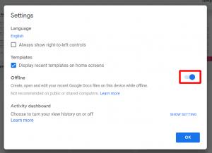Google Docs setting up online