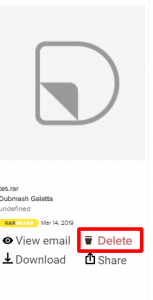 dittach deleted gmail attachment file