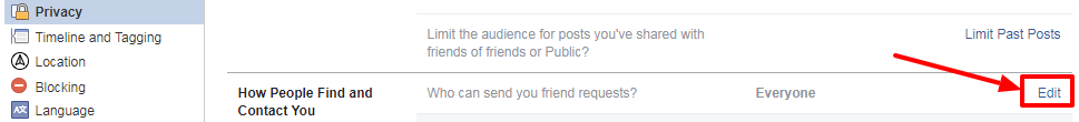 facebook edit option under who can see your friends list