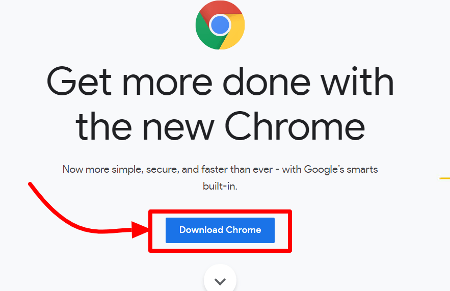 Official download page for google chrome