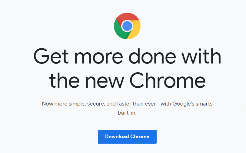 google chrome web browser official download webpage