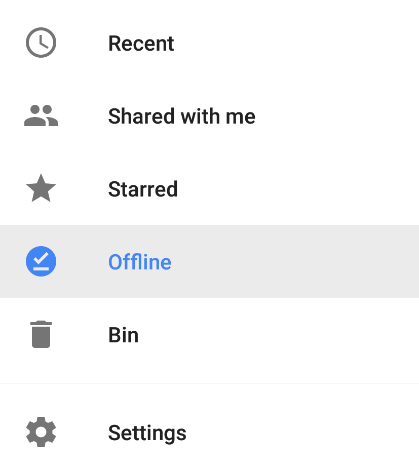 google docs application offline option