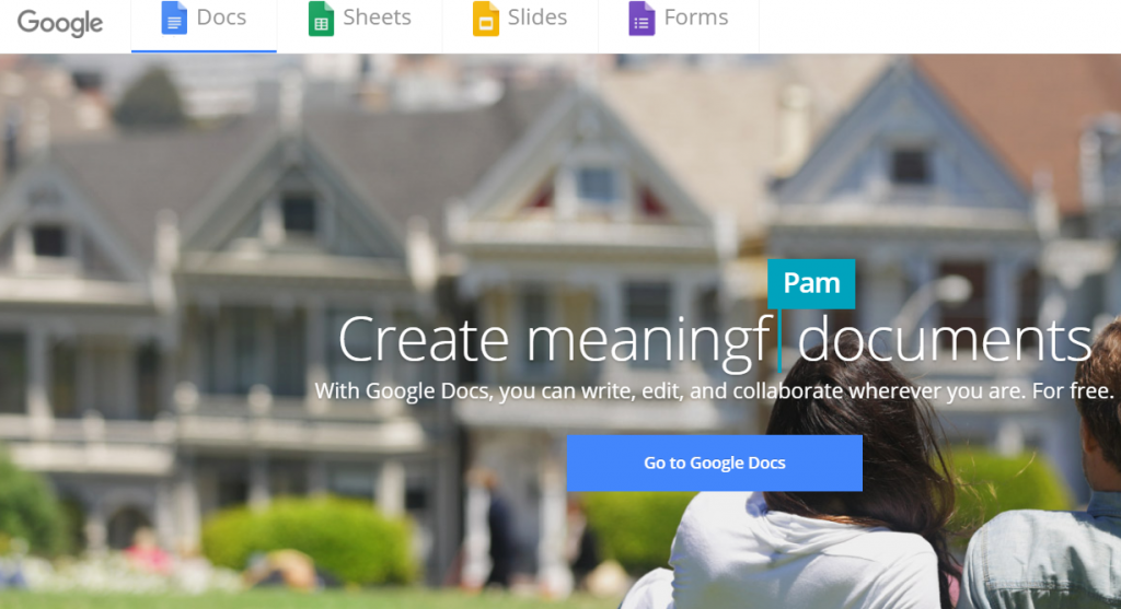 google docs, sheet, sliders page