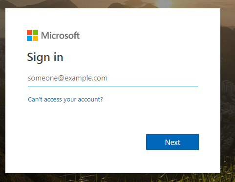 signin office 365 credentials