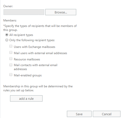 members option in distributed groups