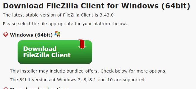 filezilla client software 64 bit for windows