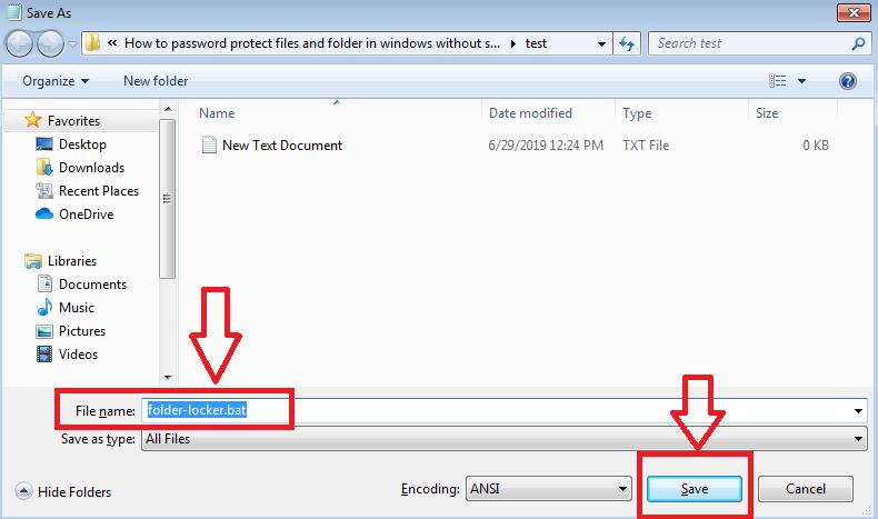 rename and save file folder-lock bat