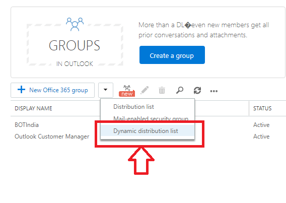 select dropdown option dynamic distribution list