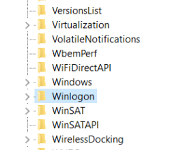 navigate and select winlogin for registry editor