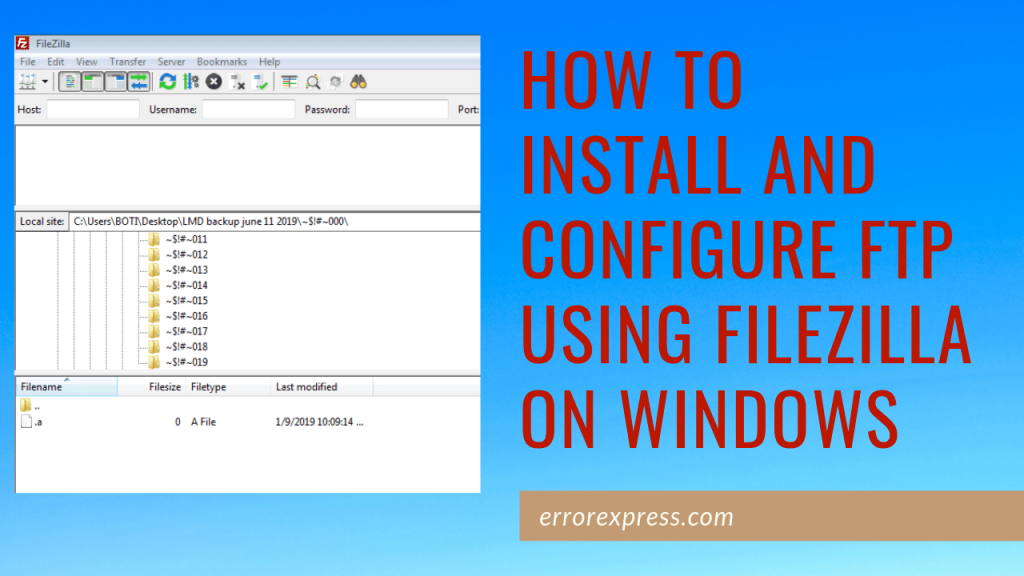 How to install and configure FTP using FileZilla on Windows