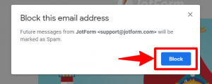 block option confirmation in gmail
