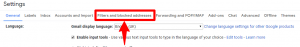 gmail settings filters and vlocked addresses option