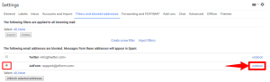 unblock the blocked email addresses in gmail
