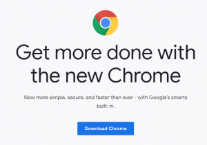 official download page for google chrome browser