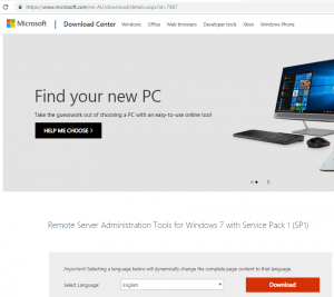 microsoft download center windows 7 official page