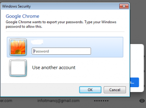 windows security asking system password