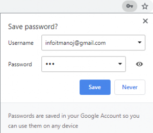 save password update prompt chrome