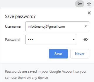 save password update prompt chrome