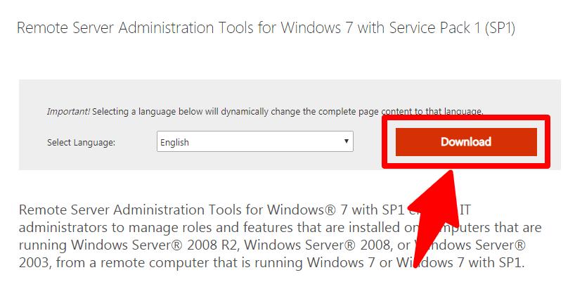 remote server administration tools download link