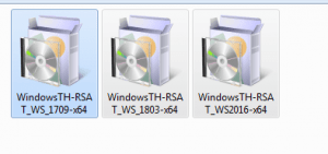 nstall windows 10 RSAT setup files