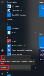 system restart option for windows 10/8