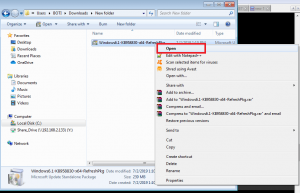 run the admin tool exe