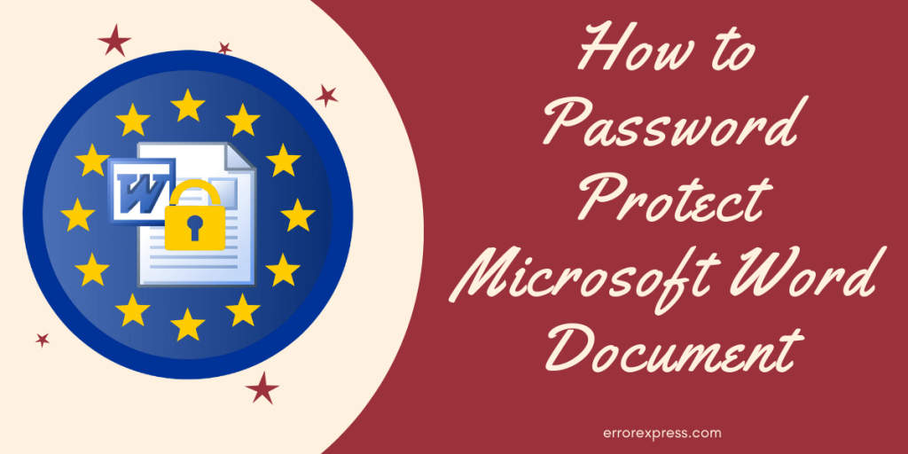 How to Password Protect Microsoft Word Document