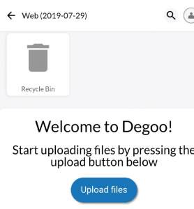 Degoo upload /Transfer files Files on the Internet more than 1GB