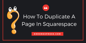 How to duplicate a page in Squarespace