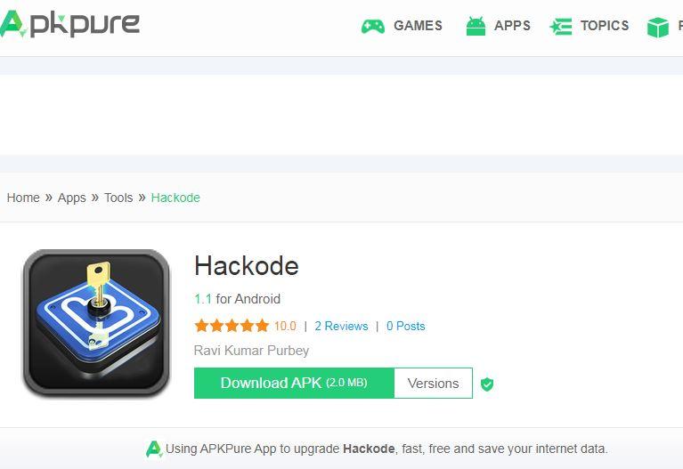 hackcode best hacking mobile application