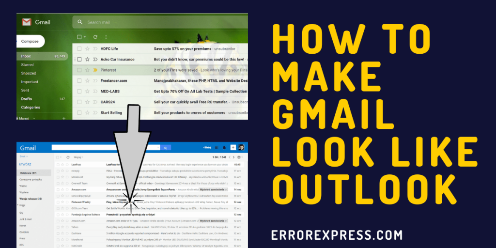How to make Gmail look like Outlook