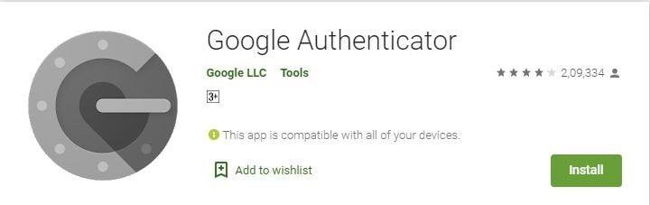 google authenticator application for android and IOS