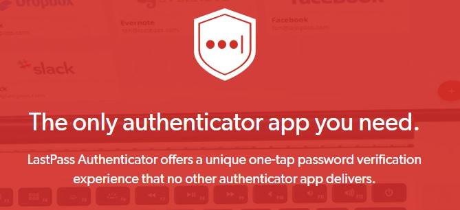LastPass Authenticator best two step verification 2fa application