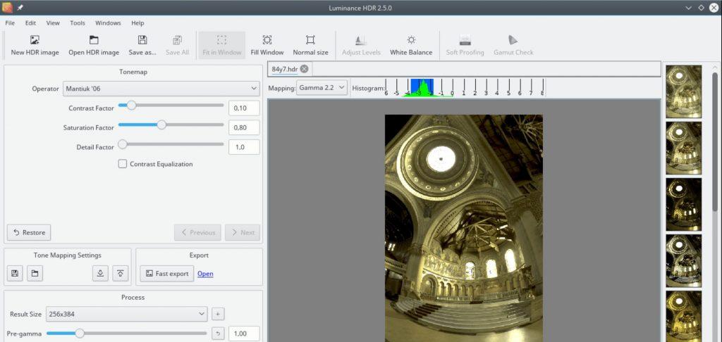 luminance HDR software